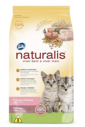 Ração Naturalis para Gatos Filhotes Sabor Frango e Peixe