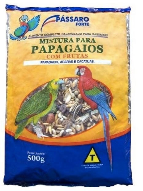 Mistura Para Papagaios Pássaro Forte