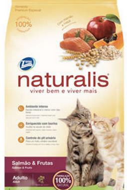 Ração Total Naturalis Salmão e Frutas para Gatos Adultos - 1Kg