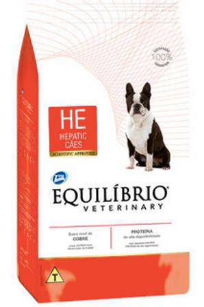 Ração Seca Total Equilíbrio Veterinary HE Problemas Hepáticos Cães Adultos 7,5Kg