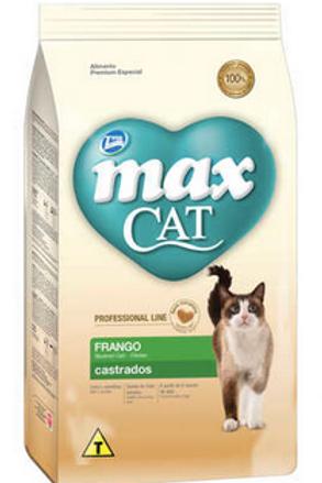 Ração Total Max Cat Line Frango para Gatos Adultos Castrados - 1Kg