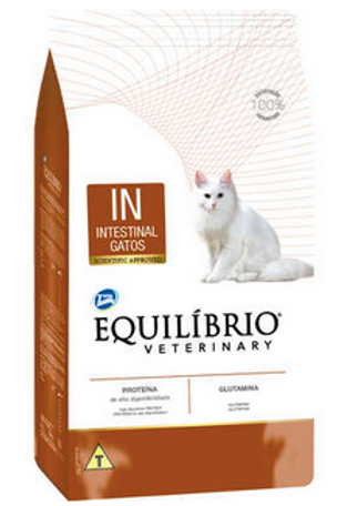 Ração Seca Total Equilíbrio Veterinary IN Intestinal Gatos Adultos 2Kg