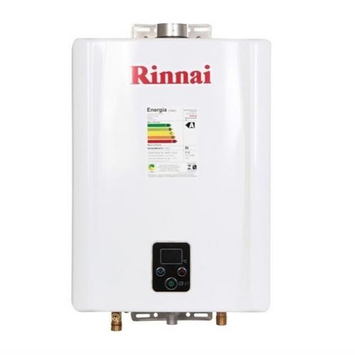 Aquecedor A Gás 21 Litros Rinnai Eletrônico Gn+ Brinde