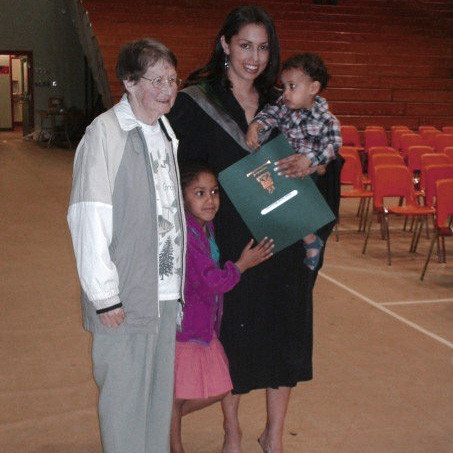 graduation grandmother family native