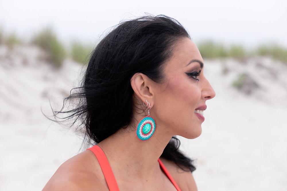 Mi'kmaq Beaded Earrings Beach Rest