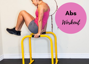 QUICK 20 MIN ABS + CARDIO HOME WORKOUT WITH LEBERT EQUALIZERS!