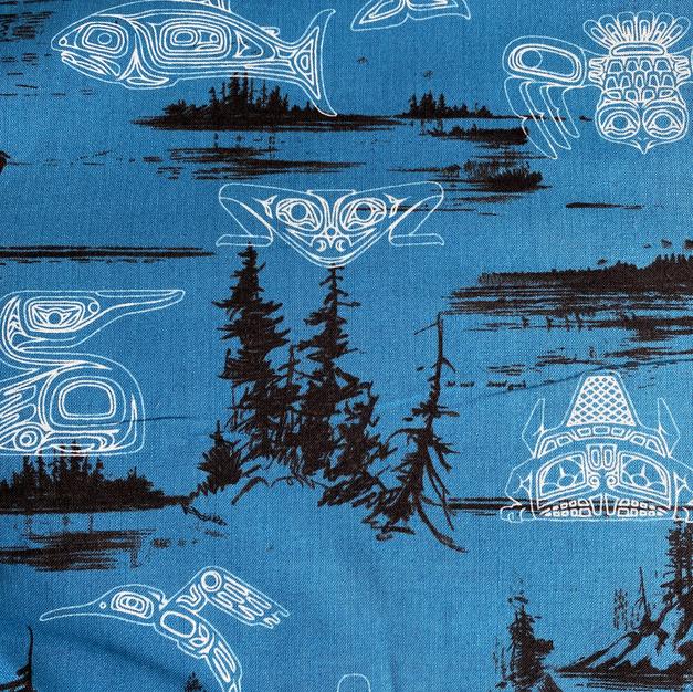 Blue Tribal Animals