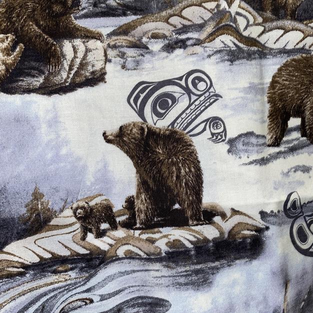 Tribal Bear Grey