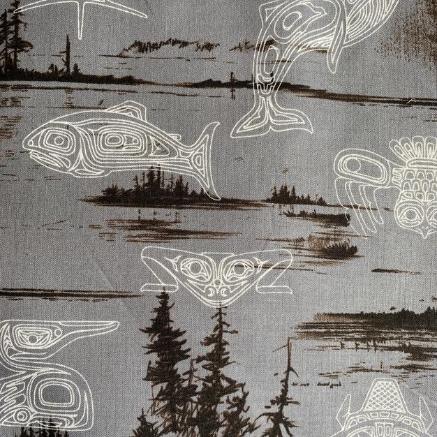 Grey Tribal Animals