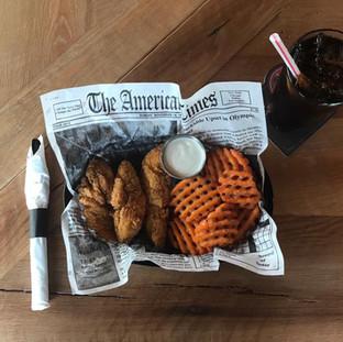 Chicken Tenders Waffle Fries