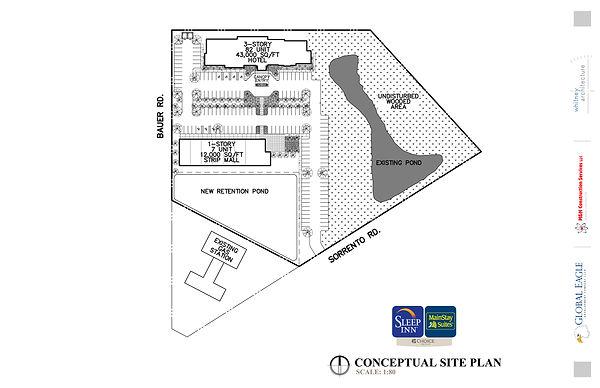 Sleep Inn Mainstay - Conceptual Site Pla