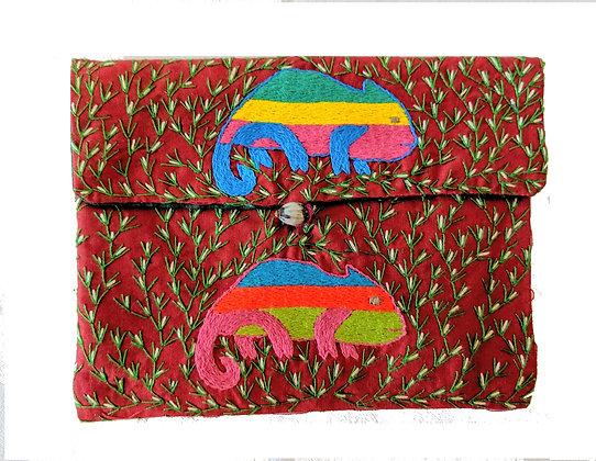 Embroidered Purse/Make-up bag