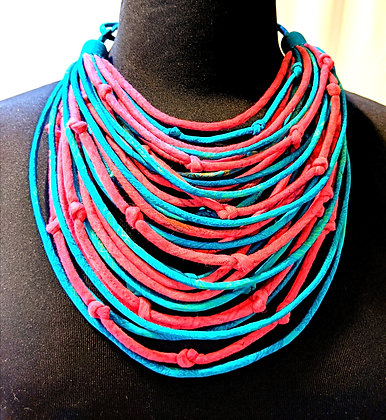 upcycled vintage silk sari necklaces