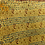 "Thumbnail: upcycled silk sari ""kantha"" scarf - butterscotch print and yellow gold"