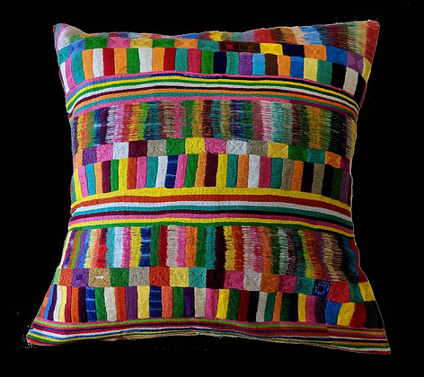 Fully Embroidered Pillow