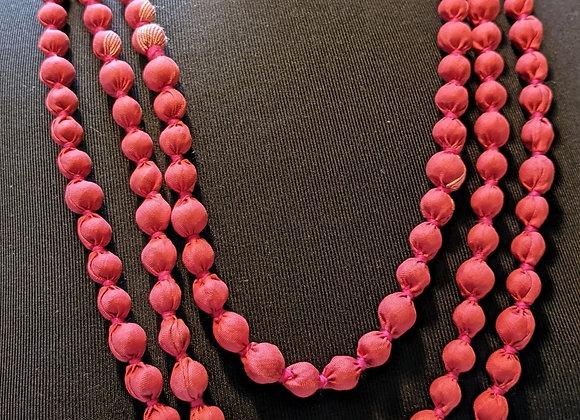 upcycled zerowaste vintage silk sari necklace
