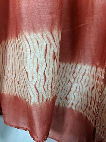 cotton-silk stitched shibori stole