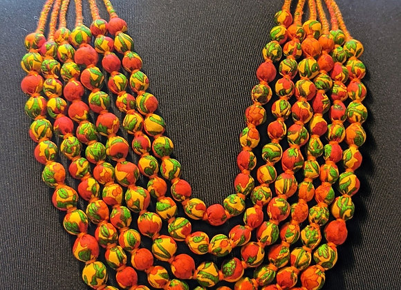 upcycled vintage silk sari necklace