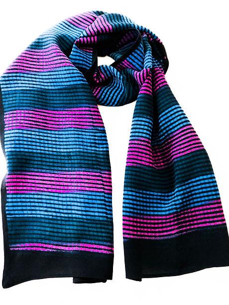 Hand-block printed Studio Syu scarf