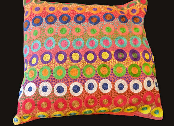 Embroidered Cushion - Circles
