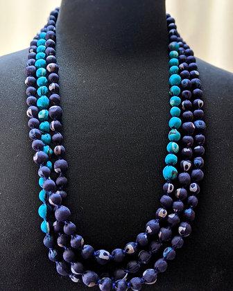 upcycled, zero-waste vintage silk sari necklace