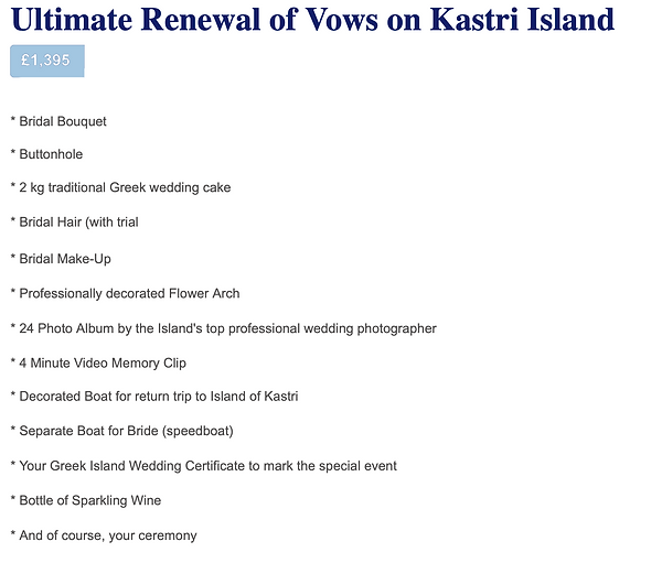 Greek Island Renewal of Vows