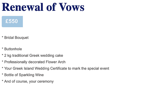 Renewal of Vows in Greece