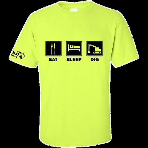 Safety Green Eat-Sleep-Dig T-Shirt