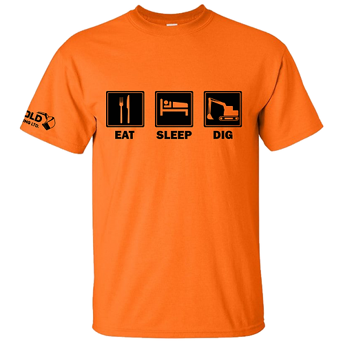 Orange Eat-Sleep-Dig T-Shirt