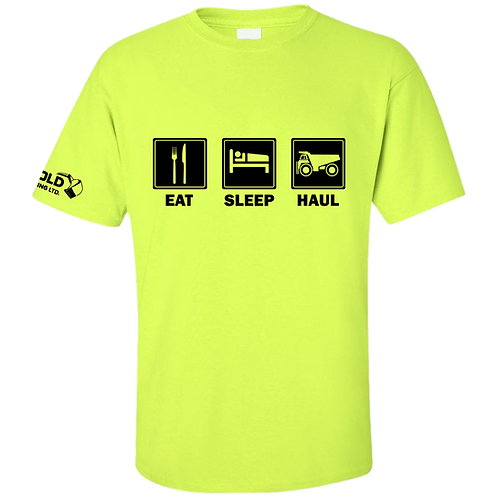 Safety Green Eat-Sleep-Haul T-Shirt
