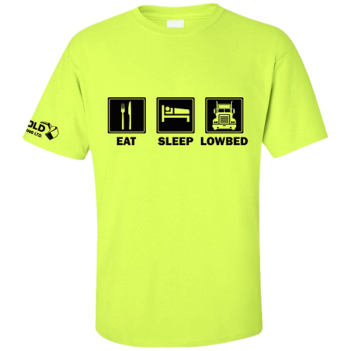 Safety Green Eat-Sleep-Lowbed T-Shirt