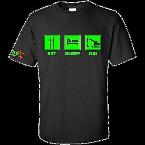 Black Eat-Sleep-Dig T-Shirt