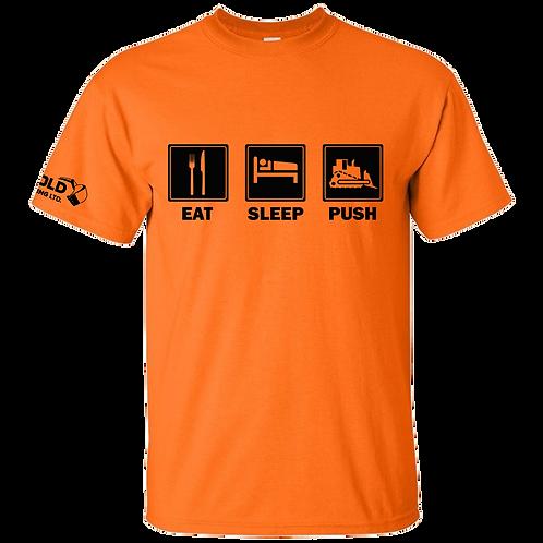 Orange Eat-Sleep-Push T-Shirt