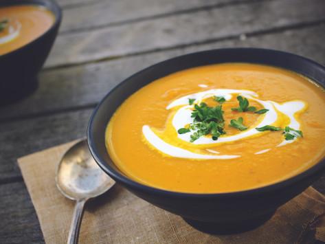 Морковно-луковый крем-суп с   апельсиновым соком