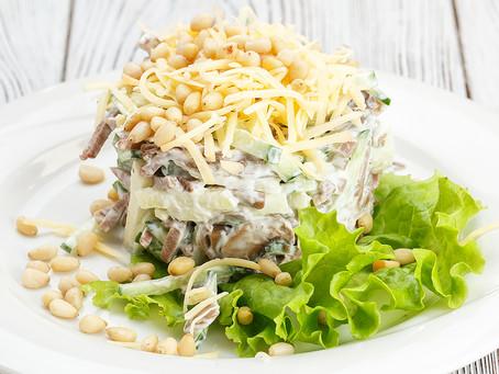 Сытный   салат с языком