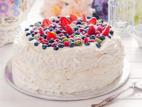 Зефирно-ягодный торт