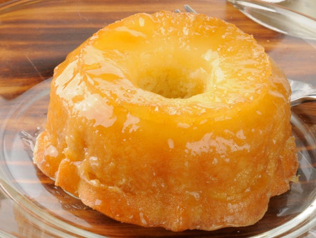 Ананасовый   пирог-перевёртыш на молоке