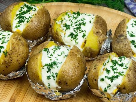 Картофель в мундире с   творогом