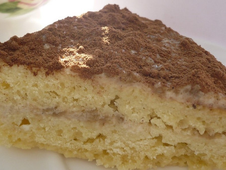 Кукурузный   пирог с халвой