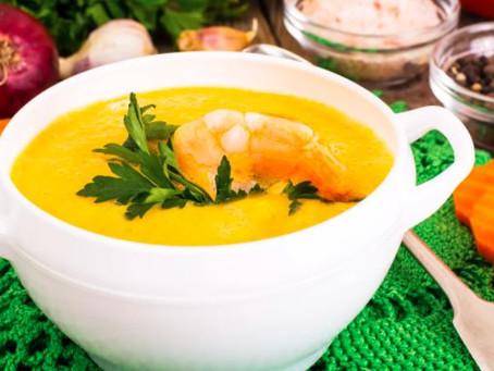 Сырный суп с шафраном