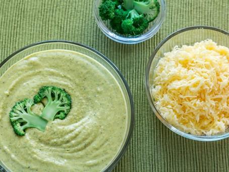 Кето суп с сыром и брокколи