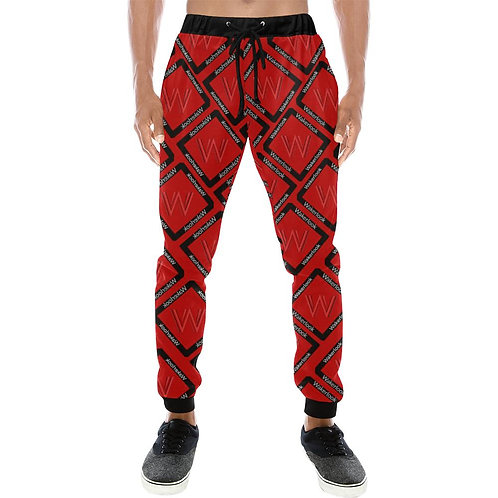 Men's Fashion Class Wakerlook Print Baggy Slacks