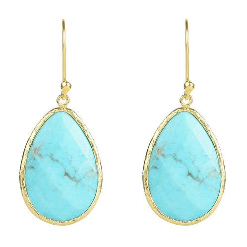 Single Drop Earring Turquoise Gold