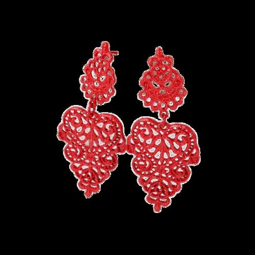 Agnes Earrings -Red