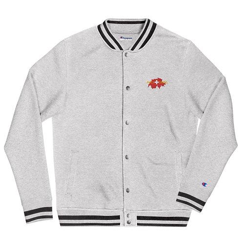Embroidered AVICII SWISS Champion Collaboration Bomber Jacket