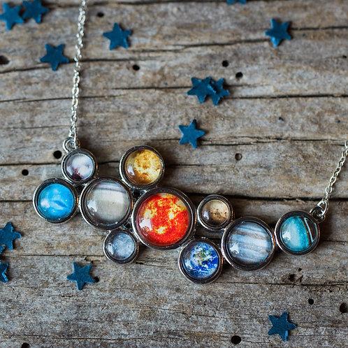 Solar System Statement Bib Necklace