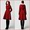 Thumbnail: AVICII SWISS Women's Winter Single breasted wool Coat, red swing hooded princes