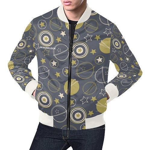 Stars Earth Moon Casual Jacket Men's All Over Print Casual Jacket