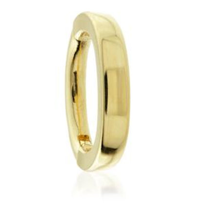 9ct Gold Plain Oval Rook Ring