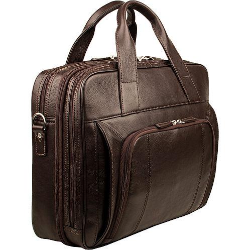 "Hidesign Aldous Ziptop 15"" Laptop Compatible Leather Work Bag"